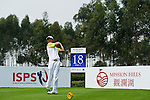 Sihuang Yan of Macau tees off during the 2011 Faldo Series Asia Grand Final on the Faldo Course at Mission Hills Golf Club in Shenzhen, China. Photo by Victor Fraile / Faldo Series