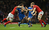 17th March 2018, Principality Stadium, Cardiff, Wales; NatWest Six Nations rugby, Wales versus France; Benjamin Fall of France is tackled by Scott Williams of Wales