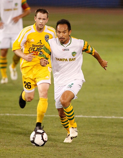 May 27, 2010; TAMPA, FLORIDA: FC Tampa Bay Rowdies Midfielder Takuya Yamada #32 during a 3-1 victory over the Minnesota Stars at Steinbrenner Field in Tampa, Florida. Photo by Matt May/FC Tampa Bay Rowdies