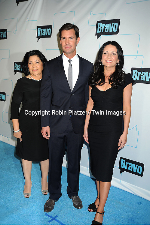 """Flipping Out"" stars, Zoila Chavez, Jeff Lewis and Jenni Pulos attends the Bravo Upfront on April 4, 2012 at 548 West 22nd Street in New York City."