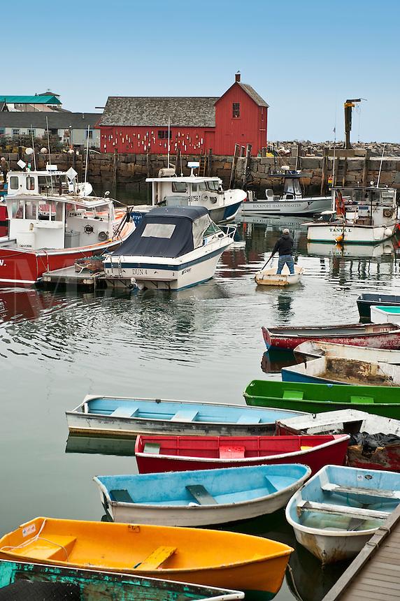 Rockport harbor, Rockport, Massachusetts, USA