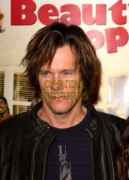"""KEVIN BACON.MGM's World Premiere of """"Beauty Shop"""" held at The Mann National Theater in Westwood, California.March 24th, 2005.headshot portrait messy hair stubble facial hair.www.capitalpictures.com.sales@capitalpictures.com.Supplied By Capital PIctures"""