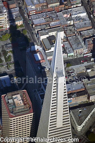 aerial photograph Transamerica pyramid San Francisco California