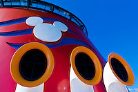 On board the new Disney Dream cruise ship, Disney Cruise Line, sailing between Florida and the Bahamas