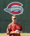 Sept. 3, 2009: Manager Kevin Boles of the Greenville Drive at Fluor Field at the West End in Greenville, S.C., Sept. 3, 2009. Boles was named 2010 manager of the Salem Red Sox on Dec. 22, 2009. Photo by:  Tom Priddy/Four Seam Images