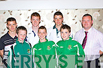Listowel soccer stars at the Kerry Schoolboy's awards night in the Gleneagle Hotel Killarney Friday evening l-r: Dylan Murphy, Aaron O'Connell, David Cullane, Dean Mahony, Shane O'Sullivan, Darragh O'Shea, Joby Costello   Copyright Kerry's Eye 2008