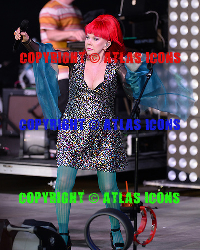 POMPANO BEACH FL - JULY 01: Kate Pierson of The B-52's performs at The Pompano Beach Amphitheater on July 1, 2018 in Pompano Beach, Florida. Photo by Larry Marano © 2018