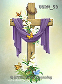Randy, EASTER RELIGIOUS, OSTERN RELIGIÖS, PASCUA RELIGIOSA, paintings+++++Draped-Cross-on-colored-bkg,USRW58,#ER#