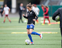 Seattle, Washington - Saturday May 14, 2016: Seattle Reign FC defender Lauren Barnes (3)  during warmups at Memorial Stadium on Saturday May 14, 2016 in Seattle, Washington. The match ended in a 1-1 draw