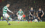 Leigh Griffiths blasts his penalty kick straight at keeper Scott Fox