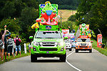 The publicity caravan during Stage 11 of the 104th edition of the Tour de France 2017, running 203.5km from Eymet to Pau, France. 12th July 2017.<br /> Picture: ASO/Bruno Bade | Cyclefile<br /> <br /> <br /> All photos usage must carry mandatory copyright credit (&copy; Cyclefile | ASO/Bruno Bade)