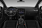 Stock photo of straight dashboard view of 2019 Volkswagen Golf R 5 Door Hatchback Dashboard