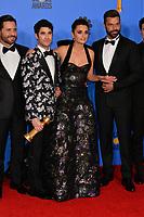 LOS ANGELES, CA. January 06, 2019: Edgar Ramirez, Darren Criss, Penelope Cruz & Ricky Martin at the 2019 Golden Globe Awards at the Beverly Hilton Hotel.<br /> Picture: Paul Smith/Featureflash