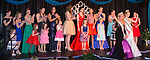 March 25, 2017- Tuscola, IL- All 2017 Queen candidates gather on stage as Miss Tuscola Madeline Clabaugh, Little Miss Ava Brown, and Junior Miss Julia Kerkhoff walk the runway and wave to the crowd. [Photo: Douglas Cottle]