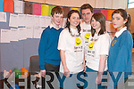 YOUTH MENTAL HEALTH: TY students from Mercy Mounthawk helped to raise awareness about youth mental health issues on Friday. From l-r were: Ian Collins, Ruth Baker, David Lee, Michelle William's and Stephanie Collins.   Copyright Kerry's Eye 2008