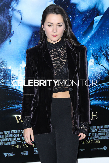 """NEW YORK, NY - FEBRUARY 11: Arabella Oz at the World Premiere Of Warner Bros. Pictures' """"Winter's Tale"""" held at Ziegfeld Theatre on February 11, 2014 in New York City. (Photo by Jeffery Duran/Celebrity Monitor)"""