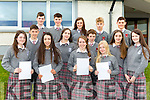 Intermediate School Killorglin students  who received their Junior Certs results on Wednesday front row: Brianna O'Connor, Grace Cahillane, Anna O'Reilly, Cadhla Piggot, Sarah O'Shea. Middle row: Steven Corsini, Emily Kehoe, Ronan O'Shea, Isabel Kehoe. Back row: Oisin O'Connor, Sean Arthurs, Lucy Clifford, Liam Curran and Jack Clifford