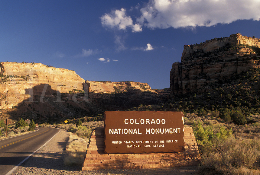 Colorado National Monument, CO, Colorado, West Entrance to Colorado Nat'l Monument in Colorado.