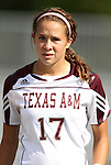 09 September 2011: Texas A&M's Shea Groom. The Duke University Blue Devils defeated the Texas A&M Aggies 7-2 at Koskinen Stadium in Durham, North Carolina in an NCAA Division I Women's Soccer game.