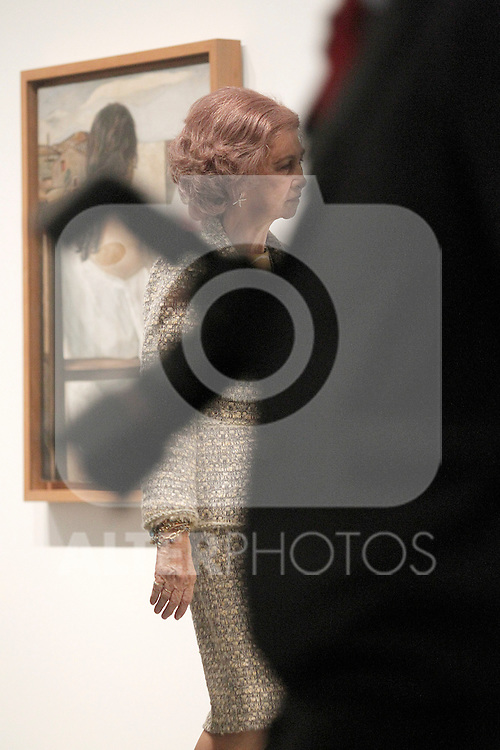 Queen Sofia of Spain attends Dali exhibition at Reina Sofia museum.April 26 ,2013. (ALTERPHOTOS/Acero)