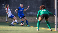 Seattle, WA - Saturday July 15, 2017: Christen Westphal, Megan Rapinoe; Abby Smith during a regular season National Women's Soccer League (NWSL) match between the Seattle Reign FC and the Boston Breakers at Memorial Stadium.