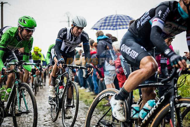 Laurens ten Dam, Belkin, Tom Dumoulin, Giant Shimano,  Tour de France, Stage 5: Ypres > Arenberg Porte du Hainaut, UCI WorldTour, 2.UWT, Wallers, France, 9th July 2014, Photo by Peloton Photos / Brakethrough Media