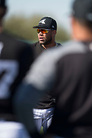 Chicago White Sox infielder Yoan Moncada (10) during Spring Training Camp on February 25, 2018 at Camelback Ranch in Glendale, Arizona. (Zachary Lucy/Four Seam Images)