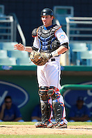 New York Mets minor league catcher Jeff Glenn (5) during a game vs. the Minnesota Twins in an Instructional League game at City of Palms Park in Fort Myers, Florida;  October 4, 2010.  Photo By Mike Janes/Four Seam Images