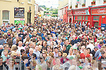 A large crowd came out to watch the crowning of the Puck goat in Killorglin on Tuesday evening.