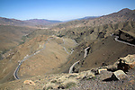 Tiz-n-Tichka road through Atlas Mountains, Morocco, north Africa