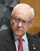 """United States Senator Orrin Hatch (Republican of Utah), chairman, US Senate Committee on Finance listens during a hearing on """"Individual Tax Reform"""" on Capitol Hill in Washington, DC on Thursday, September 14, 2017.  Senator Hatch, as the most senior senator in the majority party also serves as the president pro tempore of the US Senate, a position that puts him third in the line of succession to the US presidency.<br /> Credit: Ron Sachs / CNP"""