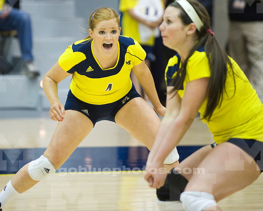 The University of Michigan volleyball team fell to Nebraska 3-0 at Clliff Keen Arena in Ann Arbor, Mich., on Saturday, October 1, 2011.
