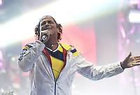 BOGOTA – COLOMBIA -  23-05-2014: Carlos Vives, canta durante fiesta de despedida de la Selección Colombia en el estadio Nemesio Camacho el Campin de la ciudad de Bogota, Colombia parte hacia La copa Mundo Brasil 2014.  / Carlos Vives, sings during a farewell party of the Colombia Team at the stadium Nemesio Camacho El Campin stadium in Bogota city, Colombia travels to the World Cup Brazil 2014. Photo: VizzorImage / Luis Ramirez / Staff.