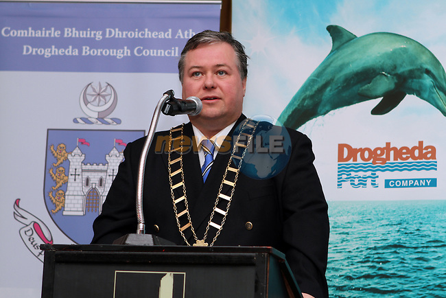 Mayor Paul Bell during the IWAI Power Boat Branch visit to Drogheda...(Photo credit should read Jenny Matthews/NEWSFILE)...