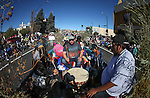 Native American drummers perform in the annual Nevada Day parade in Carson City, Nev. on Saturday, Oct. 29, 2016. <br />