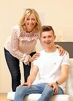 Pictured: Helen Humphreys with son Llew in Carmarthen, Wales, UK<br /> Re: Diabetes UK Cymru case study.