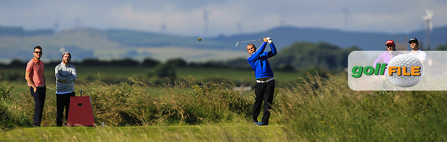 Jordan Hood (Galgorm Castle) on the 3rd tee during Round 3 of Matchplay in the North of Ireland Amateur Open Championship at Portrush Golf Club, Portrush on Thursday 14th July 2016.<br /> Picture:  Thos Caffrey / www.golffile.ie