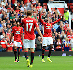 Paul Pogba of Manchester United celebrates his goal during the Premier League match at Old Trafford Stadium, Manchester. Picture date: September 24th, 2016. Pic Sportimage