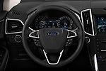 Car pictures of steering wheel view of a 2017 Ford Edge Vignale base 5 Door SUV