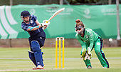Scotland V Ireland - Women's Cricket International - Scotland bat Becky Glen turns the ball away to leg in front of Ireland keeper Mary Waldron in today's T20 match at Forthill, Broughty Ferry - picture by Donald MacLeod - 01.08.2017 - 07702 319 738 - clanmacleod@btinternet.com - www.donald-macleod.com