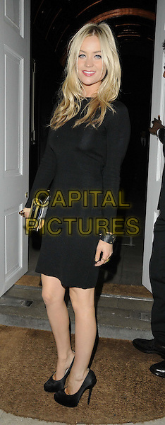 Laura Whitmore.The London Collections: Men GQ Dinner, Sketch bar & restaurant, Conduit St., London, England..January 9th, 2013.full length black dress.CAP/CAN.©Can Nguyen/Capital Pictures.