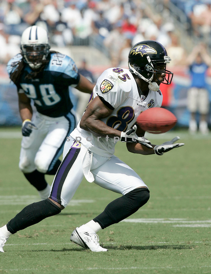 Derrick Mason, of the Baltimore Ravens, during thier game against the Tennessee Titans on September 18, 2005...Titans win 25-10..Dilip Vishwanat / SportPics
