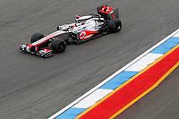 HOCKENHEIM, ALEMANHA, 20 JULHO 2012 - FORMULA 1 - GP DA ALEMANHA -   O piloto Jeson Button da equipe McLaren durante o primeiro dia de treinos livres no circuito de Hockenheim nesta sexta-feira, 20. Domingo acontece a 10 etapa da F1 no GP da Alemanha. (FOTO: PIXATHLON / BRAZIL PHOTO PRESS).