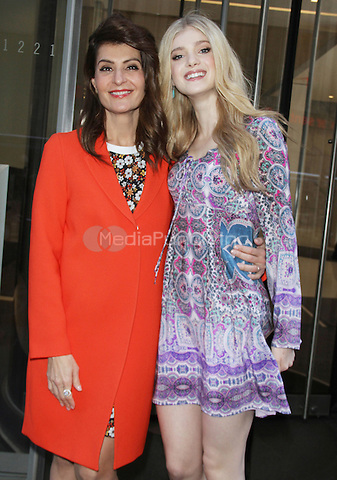 NEW YORK, NY - MARCH 18: Nia Vardalos and Elena Kampouris seen at SiriusXM studios promoting My Big Fat Greek Wedding 2 on March 18, 2016 in New York City. Credit: RW/MediaPunch