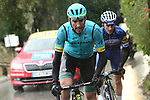 Omar Fraile (ESP) Astana Pro Team and Julian Alaphilippe (FRA) Quick-Step Floors attack during a wet miserable Stage 8 of the 2018 Paris-Nice running 110km from Nice to Nice, France. 11th March 2018.<br /> Picture: ASO/Alex Broadway | Cyclefile<br /> <br /> <br /> All photos usage must carry mandatory copyright credit (&copy; Cyclefile | ASO/Alex Broadway)