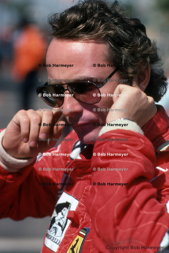 LONG BEACH, CA - MARCH 28: Niki Lauda at the inaugural 1976 United States Grand Prix West on March 28, 1976, in Long Beach, California.