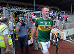 2-7-2017: Joint Kerry captain Johnny Buickley at the Kerry V Cork Munster Football final in Killarney on Sunday.<br /> Photo: Don MacMonagle