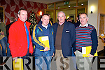 Charles O'Leary and John Cronin, Gneeveguilla, Joe Wallace, Ardfert and Bill O'Riordan, Gneeveguilla at the Kerry GAA annual general meeting at the Ballyroe Heights hotel on Monday.