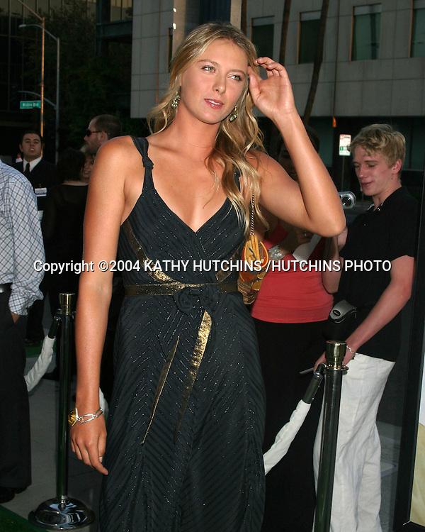 ©2004 KATHY HUTCHINS /HUTCHINS PHOTO.WIMBLEDON PREMIERE.LOS ANGELES, CA.SEPTEMBER 13, 2004..MARIA SHARAPOVA.WIMBLEDON 2004 LADIES CHAMPION
