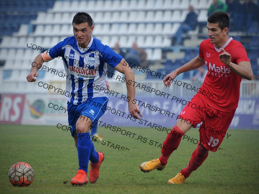 Fudbal Jelen Super League season 2016-2017<br /> Novi Pazar v Javor<br /> Enver Alivodic (L) i Jovan Djokic (D)<br /> Novi Pazar, 26. 11. 2016<br /> foto: Emir Sadovic/Starsportphoto &copy;